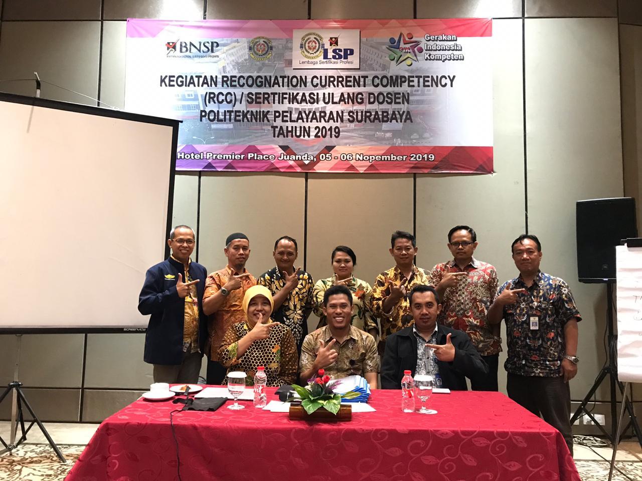 PELATIHAN RCC (Recognition Current Competency) & Pelatihan ASKOM (Assesor Kompetensi) di LSP Politeknik Pelayaran Surabaya